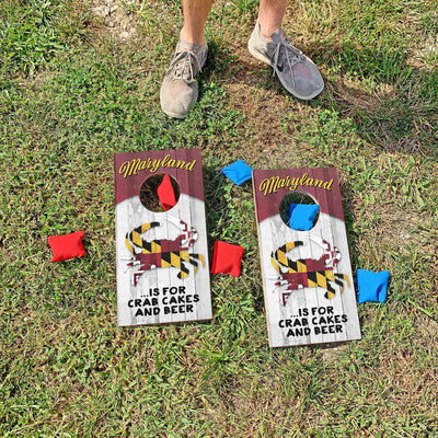 Maryland is for Crab Cakes and Beer | Fun Size Mini Cornhole Game