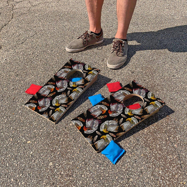 Eagle Heads | Fun Size Mini Cornhole Game