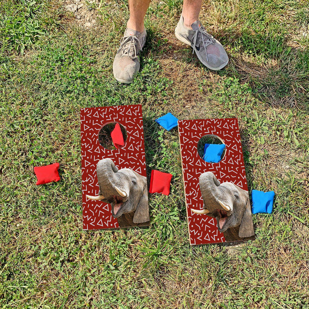 Crimson Elephant Fun Size Cornhole Set
