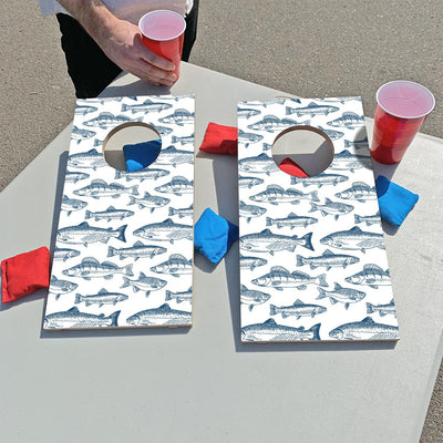 Blue Trout Pattern | Fun Size Mini Cornhole Game
