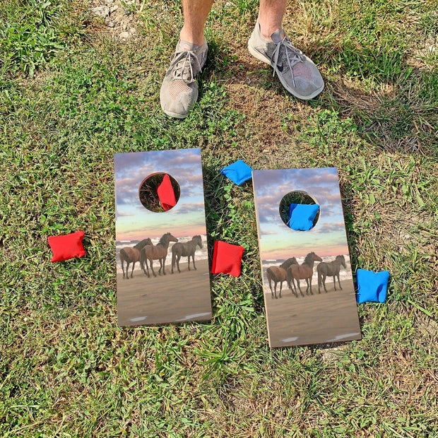 Horses on the Beach | Fun Size Mini Cornhole Game