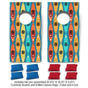Colorful Kayaks Fun Size Cornhole Set