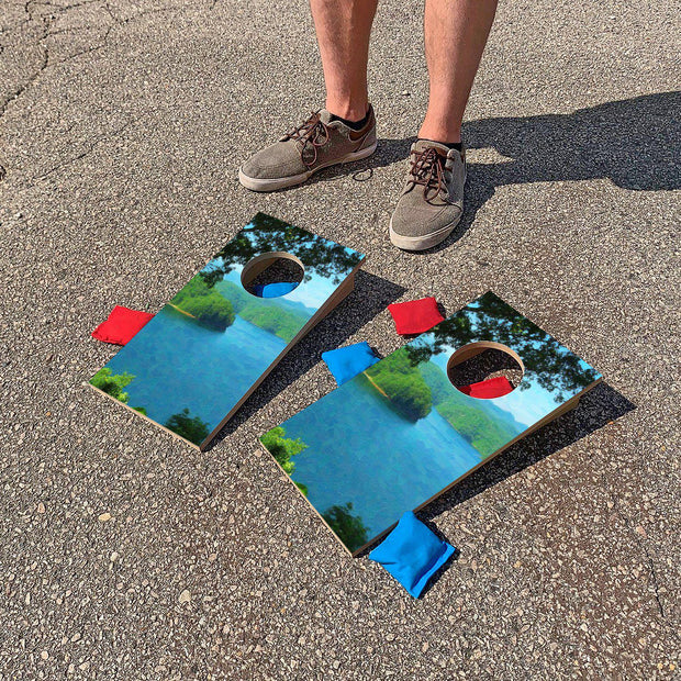 Lake Scene | Fun Size Mini Cornhole Game
