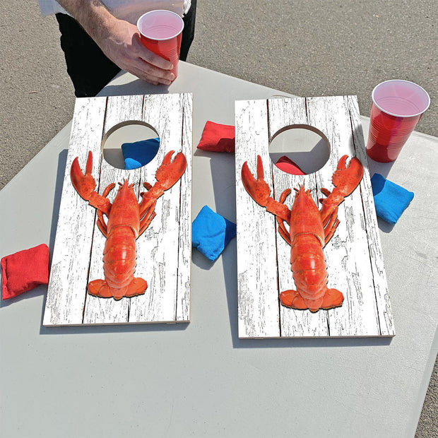Big Red Lobster | Fun Size Mini Cornhole Game