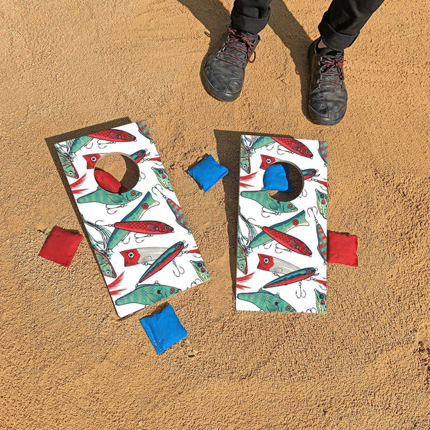 Fishing Lures Fun Size Cornhole Set
