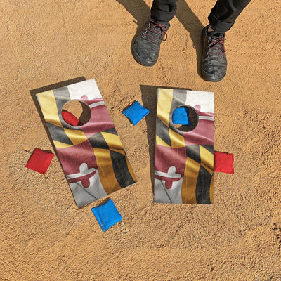Maryland Flag Fun Size Cornhole Set
