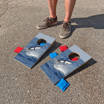 Marlin Jumping | Fun Size Mini Cornhole Game