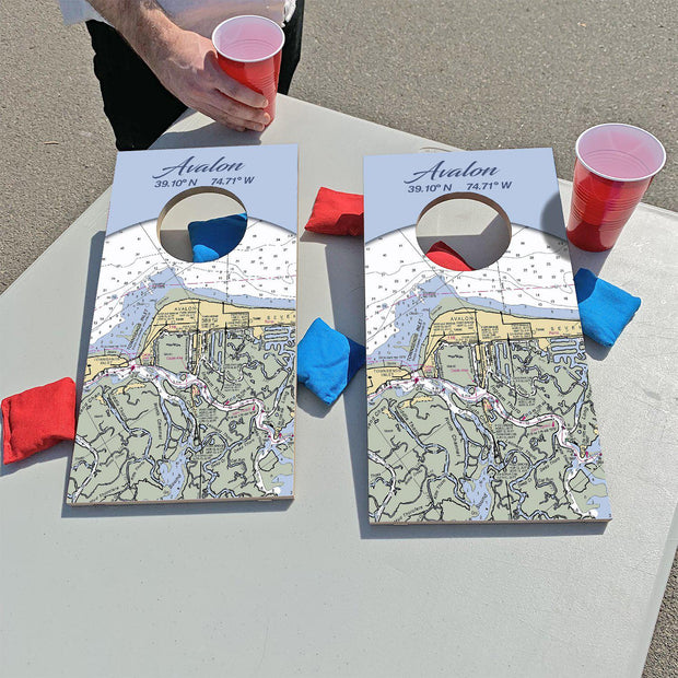 Avalon, New Jersey Map | Fun Size Mini Cornhole Game