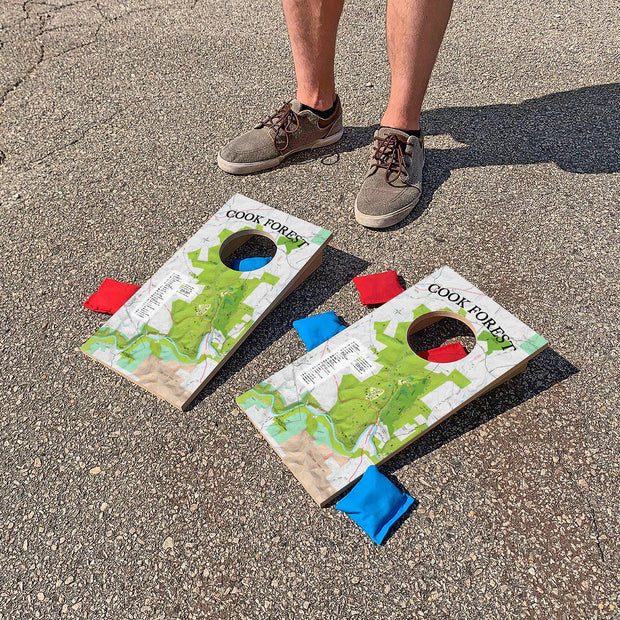 Cook Forest, Pennsylvania Map | Fun Size Mini Cornhole Game