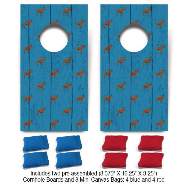 Moose Pattern Fun Size Cornhole Set