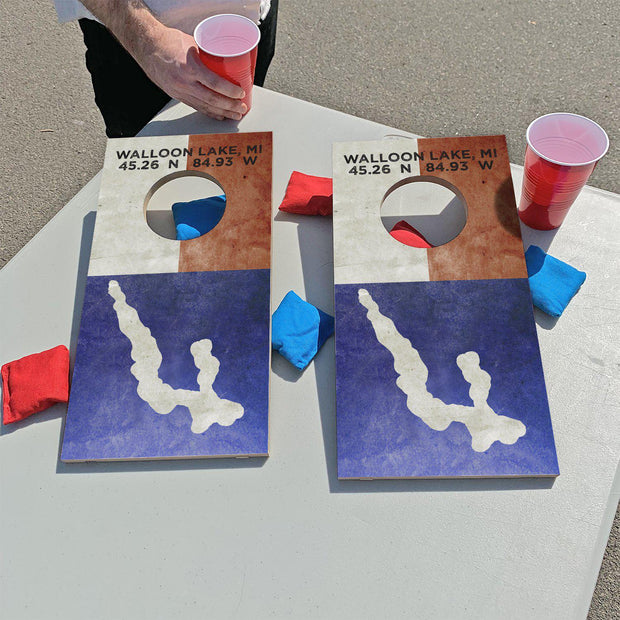 Walloon Lake, Michigan | Fun Size Mini Cornhole Game