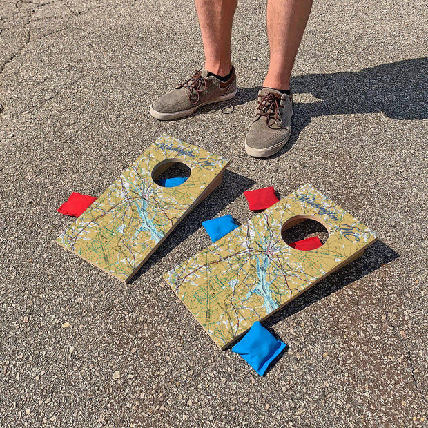 Washington, North Carolina Map | Fun Size Mini Cornhole Game