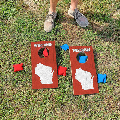 Wisconsin | Fun Size Mini Cornhole Game