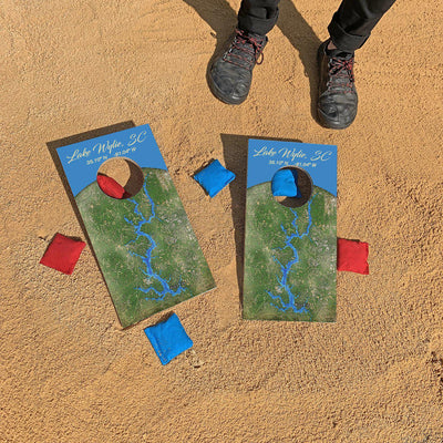 Lake Wylie, South Carolina Map | Fun Size Mini Cornhole Game