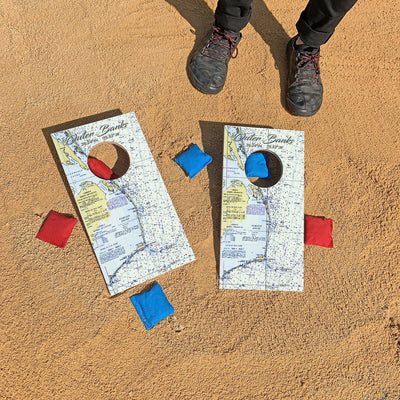 Outer Banks, North Carolina Map | Fun Size Mini Cornhole Game