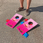 Crazy Flamingo Fun Size Mini Cornhole Set