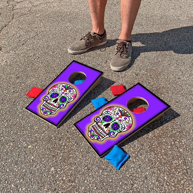 Calavera Day of the Dead Skull Fun Size Mini Cornhole Set