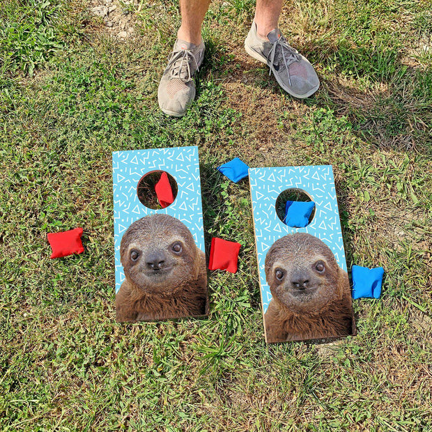 Handsome Sloth Fun Size Mini Cornhole Set