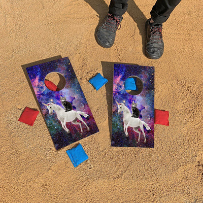 Astro Unicorn Kitten Fun Size Cornhole Set