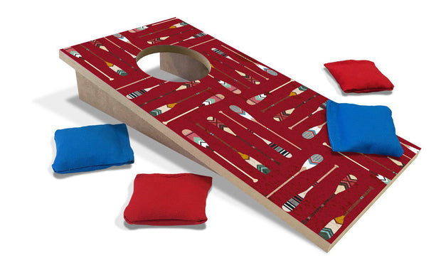 Patterned Paddles Fun Size Mini Cornhole Set