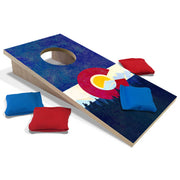 Colorado Flag Fun Size Cornhole Set-Mill Wood Art