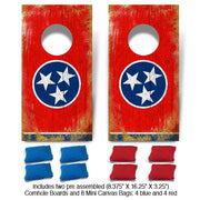Tennessee Flag Fun Size Cornhole Set-Mill Wood Art