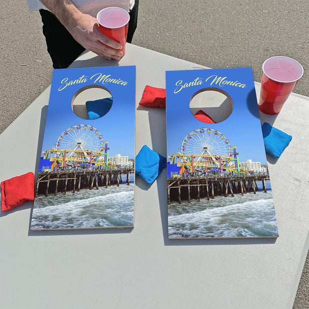 Santa Monica Pier, California | Fun Size Mini Cornhole Game