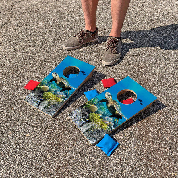 Sea Turtle Reef | Fun Size Mini Cornhole Game