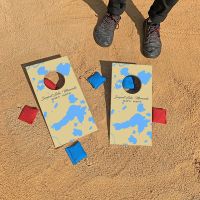 Serpent Lake, Minnesota Map | Fun Size Mini Cornhole Game