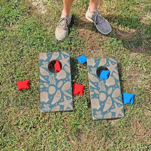 Seashells Fun Size Cornhole Set