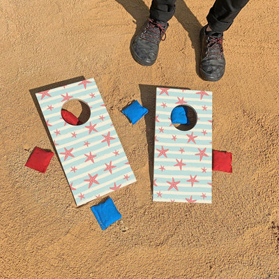 Pink Starfish Pattern | Fun Size Mini Cornhole Game