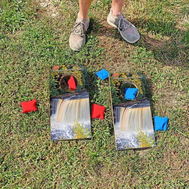 Tahquamenon Falls State Park, Michigan | Fun Size Mini Cornhole Game