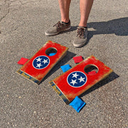 Tennessee State Flag Fun Size Cornhole Set