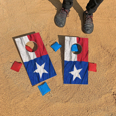 Texas State Flag Fun Size Cornhole Set