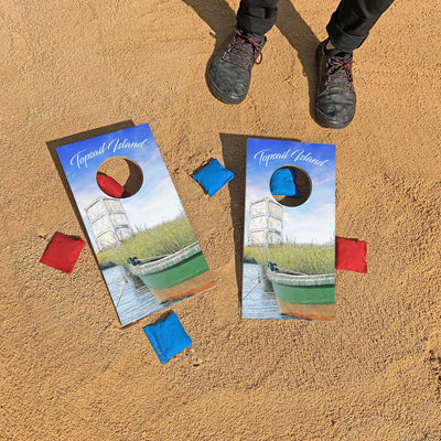 Topsail Island, North Carolina Tower | Fun Size Mini Cornhole Game