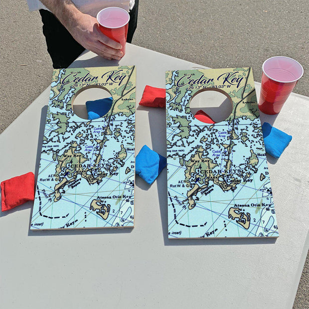 Cedar Key, Florida Map | Fun Size Mini Cornhole Game
