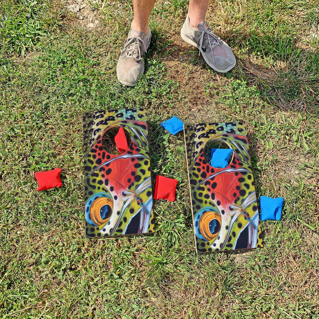 Colorful Trout | Fun Size Mini Cornhole Game