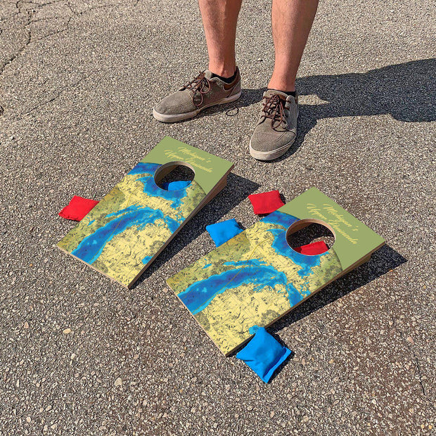 Michigans's Upper Peninsula Map | Fun Size Mini Cornhole Game