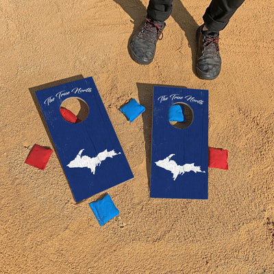 Upper Peninsula, Michigan 'The True North' | Fun Size Mini Cornhole Game