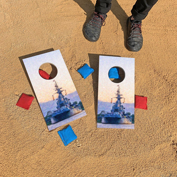 USS North Carolina - Wilmington, NC | Fun Size Mini Cornhole Game