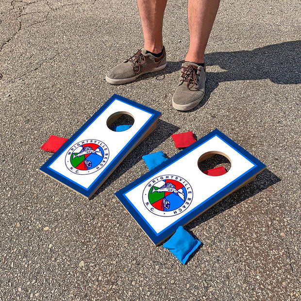 Wrightsville Beach, North Carolina Town Seal | Fun Size Mini Cornhole Game
