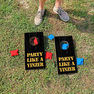 Party Like A Yinzer' Pittsburgh Saying | Fun Size Mini Cornhole Game