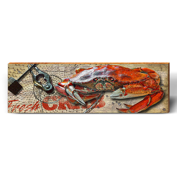 Fresh Dungeness Crab Sign-Mill Wood Art