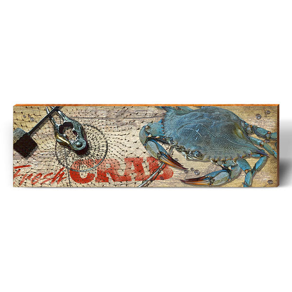 Fresh Blue Crab Sign-Mill Wood Art