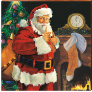 "Susan Comish ""Fireplace Santa""-Mill Wood Art"