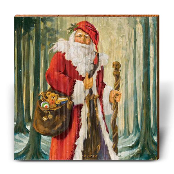 "Susan Comish ""Woodland Santa""-Mill Wood Art"