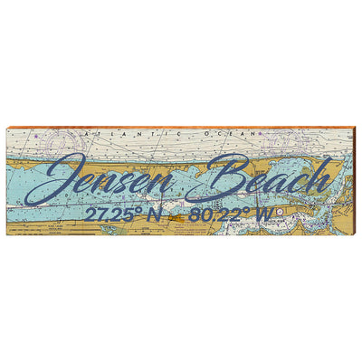 Jensen Beach, Florida Navigational Chart Wall Art-Mill Wood Art