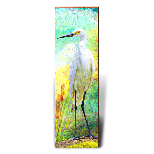 Egret Dreams-Mill Wood Art