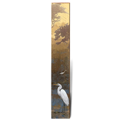 "Egret at Dusk Large Piece | Size: 9.5"" x 60""-Mill Wood Art"