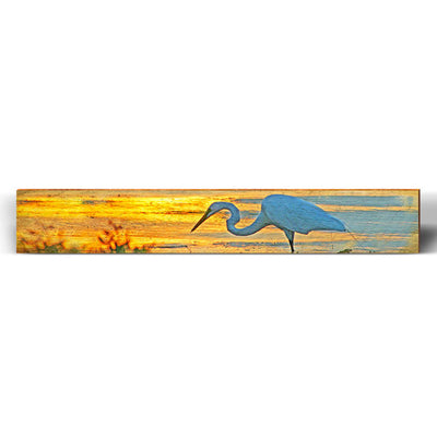 "Egret Beach Sunset Large Piece | Size: 9.5"" x 60""-Mill Wood Art"